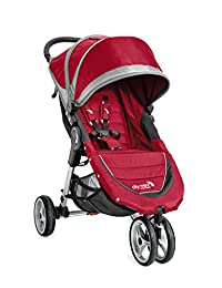 Baby Jogger 2016 City Mini 3W Single Stroller - Crimson/Gray BOBEBE Online Baby Store From New York to Miami and Los Angeles