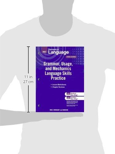 Elements of Language: Grammar Usage and Mechanics Language Skills Practice Grade 9 by HOLT, RINEHART AND WINSTON