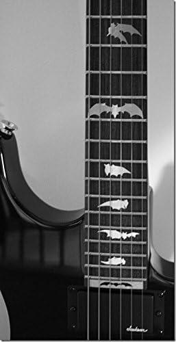 /m/étallique type /Bat Wing/ Marqueurs de palissandre incrustation Autocollant Stickers pour guitare et basse/