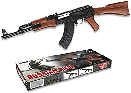 AK-47 Kalashnikov Arma Larga Airsoft Aire Suave 6 mm Potencia 0,50 Julios Airsoft Paintball Caza Supervivencia bushcraft Camping Outdoor 38320 + Portabotellas de regalo