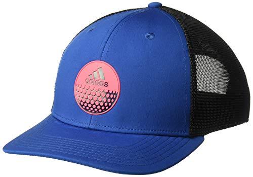 adidas Golf Men's Globe Trucker Hat, Dark Marine/Shock Red, One Size