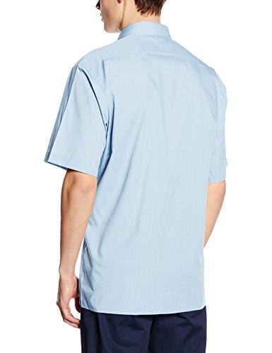 Premier Workwear Poplin Short Sleeve Shirt, Camisa para Hombre Azul (Light Blue)