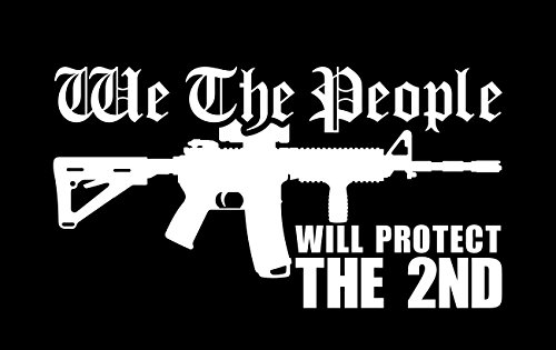 BAMFdecals We The People AR15 Will Protect The 2nd Amendment Vinyl Decal Sticker - Medium - White (Decal People)