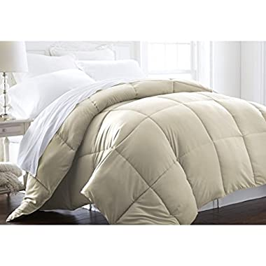 Beckham Hotel Collection LIGHTWEIGHT Luxury Goose Down Alternative Comforter - Hypoallergenic - King/Cali King - Ivory/Solid