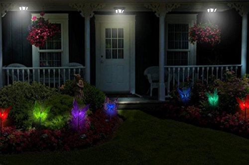 ... Solar Lights Outdoor Garden Solar Butterfly Lights Multi
