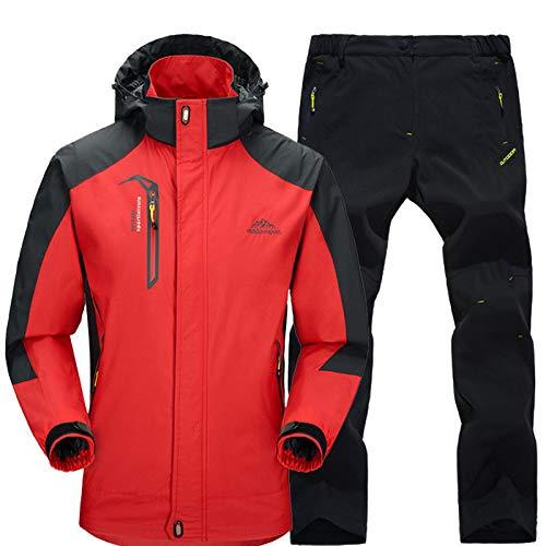 A Conjunto Otoño De Trekking Para Pesca Rojo Pantalones Negro Zjsjacket Viento Ropa Primavera Impermeable Senderismo Escalada Camping Prueba Esqui Y Aire Hombre Chaqueta Chaquetas Al Libre qB55wIZ