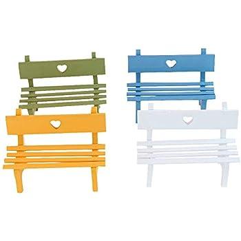 Tremendous Amazon Com Dollhouse 3 Pcs Park Seat Bench Miniature Inzonedesignstudio Interior Chair Design Inzonedesignstudiocom