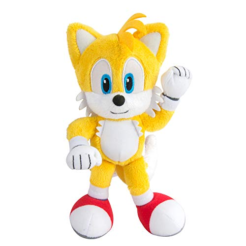 Sonic Modern Tails Collector Plush Toy | Official Licensed Product from Tomy | Featuring Fine Details & Embroidery, Yellow