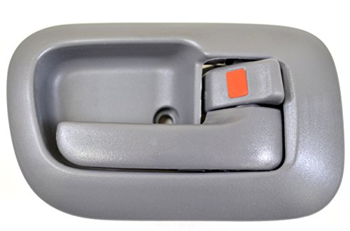 PT Auto Warehouse TO-2530G-RS - Inside Interior Inner Door Handle/Trim, Gray - Passenger Side Front