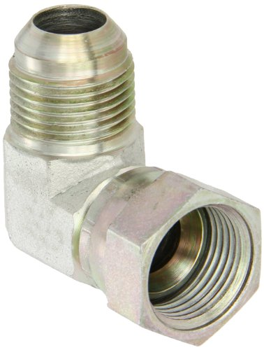 "Eaton Aeroquip 2071-10-10S 90 Degree Swivel Nut Elbow, JIC 37 Degree End Types, Carbon Steel, 5/8 JIC(f) x 5/8 JIC(m) End Size, 5/8"" Tube OD"