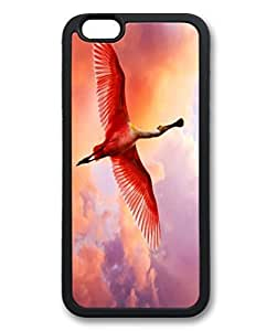 Custom Protective Soft Case will Cover For iPhone 6 DIY better Durable TPU Shell Skin have For iPhone 6 correct with Red Fly