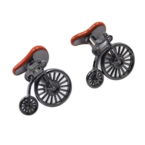 Vintage Bike Mens Cufflinks Cyclist Cycle Bicycle Cuff Link Birthday Giffs