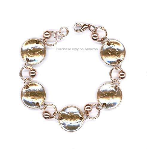 dd708897bea9b Amazon.com: 1948 Penny Copper Beaded Bracelet 71st Birthday Gifts ...