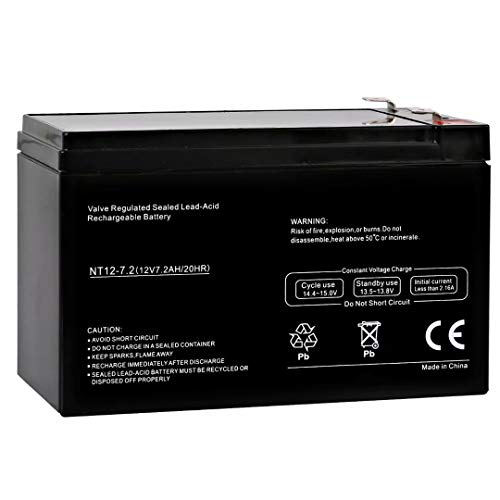 Ball Playmate Machines (Hykolity 12V 7.2AH SLA Battery Replaces Playmate Tennis Ball Machine Brand Product)