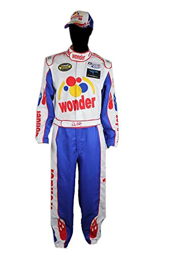 Ricky Bobby Nascar Jumpsuit + Cap Full Costume Talladega Nights (XL)