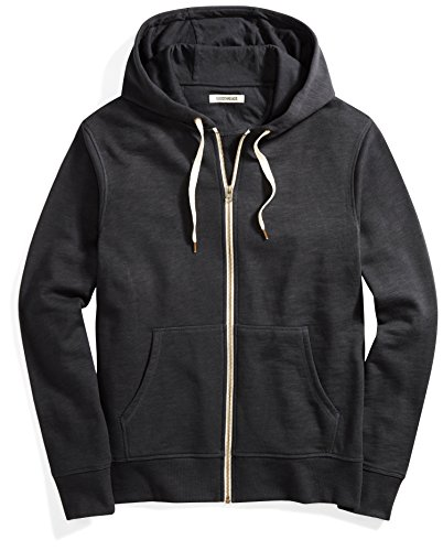 (Goodthreads Men's French Terry Full-Zip Hoodie, Black, Medium)