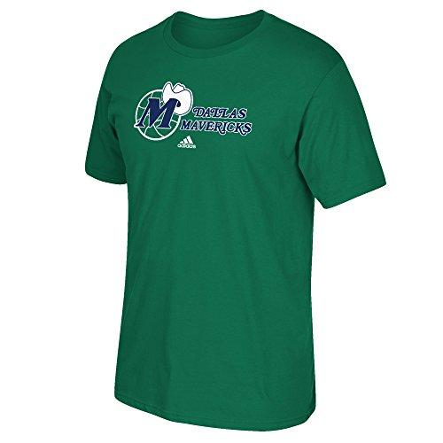 Mavericks Green (NBA Dallas Mavericks Men's Hardwood Classic Logo Hook Short Sleeve Tee, X-Large, Green)