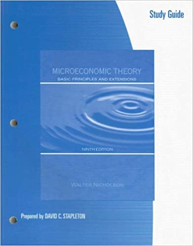 Book Study Guide to accompany Microeconomic Theory: Basic Principles and Extensions