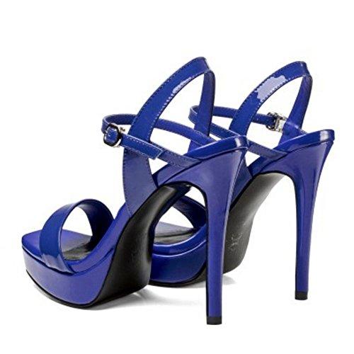 Taoffen Sandales À Femmes Blue Aiguille Talon nzU4rnq