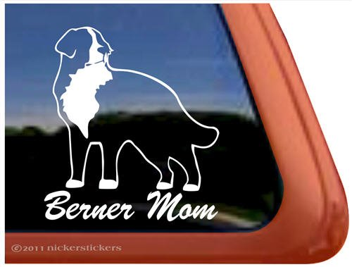 - Berner Mom Bernese Mountain Dog Vinyl Window Decal Dog Sticker