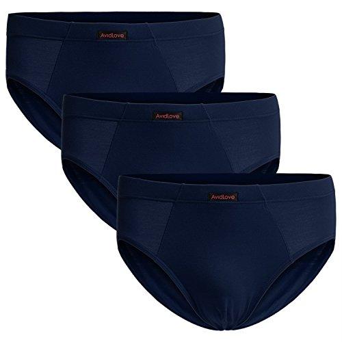 Avidlove Men Underwear 3-Packs Hip Briefs Stretch Modal Cotton Bikinis 3 X-Large
