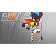Prowinch 660 lbs / 1,320 lbs. Electric Rope Hoist w/ Power Trolley upper limiter 110~120V 60HZ