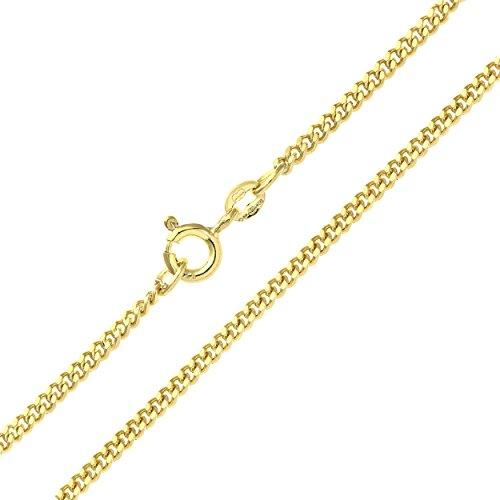 Revoni Bague en or jaune 9carats-Chaîne gourmette 6.1g Collier de 45,7cm/46cm Longueur