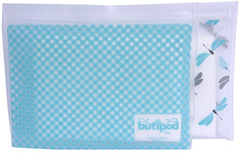 BITTY Butipod Flip Top Wipes Case (2 pack, dragonflies gingham)