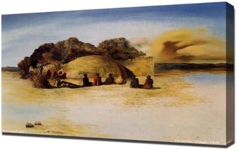 Paranoic Visage Canvas Art Cheap Print Salvador Dali
