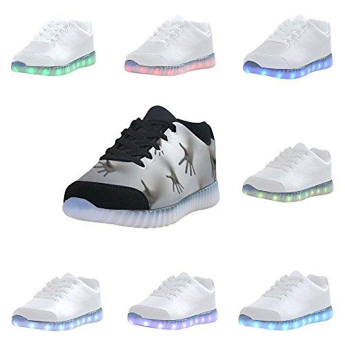 D-story Spookachtige Handen Mode Sneakers Oplichten Heren Schoenen Multicoloured21