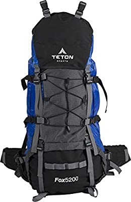 TETON Sports Fox 5200 Internal Frame Backpack; Free Rain Cover Included