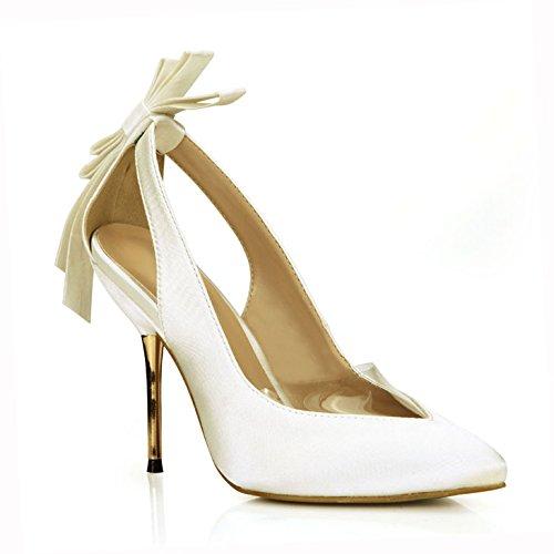 Der Der Der Frauen Schuh fallen Gefühl der mütterlichen Liebe, die die high-heel Schuhe Creme point Hochzeit Damen Schuhe Opal cd1ea8
