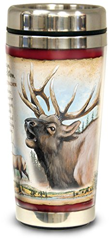 Ounce Tumbler Elk 16 - American Expedition Wildlife Steel Travel Mug (American Elk)