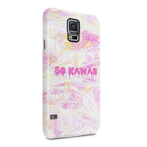 Leaking So Kawaii Colourful Kitties Hard Plastic Phone Case For Samsung Galaxy S5 Mini (Cell Case For S5 Panther Phone)