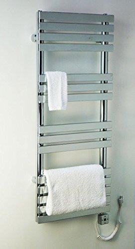 Electric Towel Warmer for Bathroom Wall Mount Heated Rail Towel & Space Heater R28C-500W. CDM