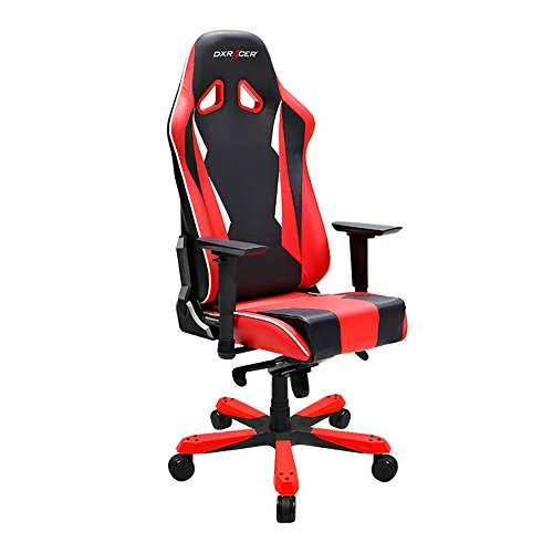 DXRacer King Series DOH/SK28/NR Newedge Edition Racing Bucket Seat Office Chair Gaming Chair Ergonomic Computer Chair Esports Desk Chair Executive Chair Furniture With Pillows(Black Red)