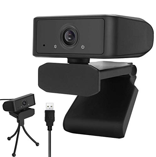 HD1080P Auto-Focus Webcam with Dual Microphone & Tripod, 120° USB Web Camera for Video Calling Conferencing Recording, Compatible with PC/Mac/Laptop Desktop, Win XP/7/8/10 and Above