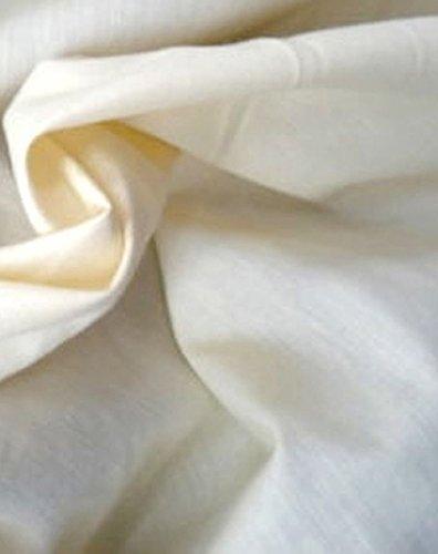 LA Linen Cotton Muslin Fabric By The 25 Yards Bolt, 60'' Wide, Natural Color. by LA Linen