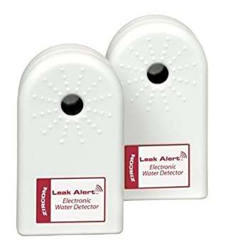 Zircon 61959 Leak Alert Electronic Water Detector Batteries Included, 2-Pack