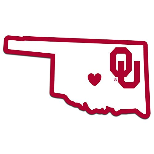 Siskiyou NCAA Oklahoma Sooners Home State Decal, 5 Inch