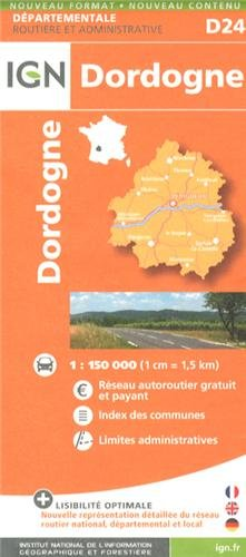 Dordogne 1:200k IGN721224 (Departement Maps) (English and French Edition)