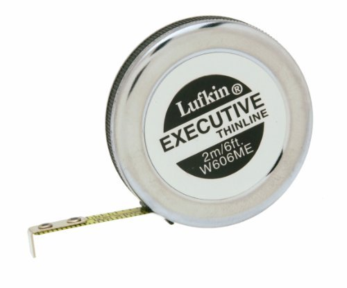 Lufkin W606ME 1/4-Inch x 2m 6-Foot Executive Thinline Pocket Tape