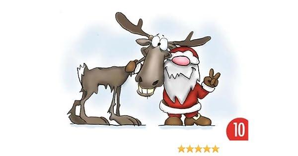 Pack de 10: Postal A6 + + + Navidad de Modern Times + + + Santa ...