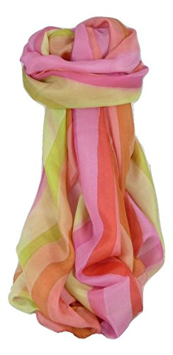 Soie du Mûrier Foulard Teinte Individuellement à la Main Wassan Palette de Rainbow Gamme Classic de Pashmina & Silk