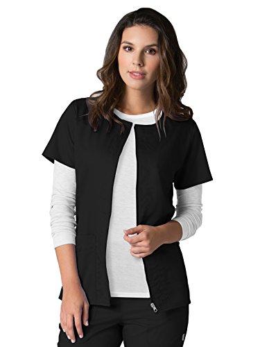 EON Maevn Women's Back Mesh Panel Short Sleeve Zip Front Jacket(Black, Large)