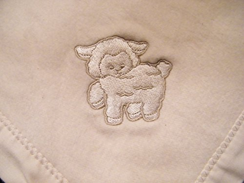 Cherub's Blanket Heavenly Organic Double Fleece Baby Blanket, with Lamby - MADE IN THE USA - Certified Organic Cotton