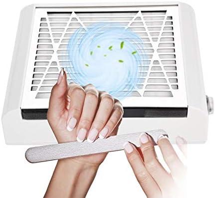 Aspiradores de Polvo para Uñas Succión Colector de Polvo 40 W uñas Fan Art Salon ventosa polvo coleccionistas Clase de eficiencia energética A+++ Aspirador manicura Profesional: Amazon.es: Hogar