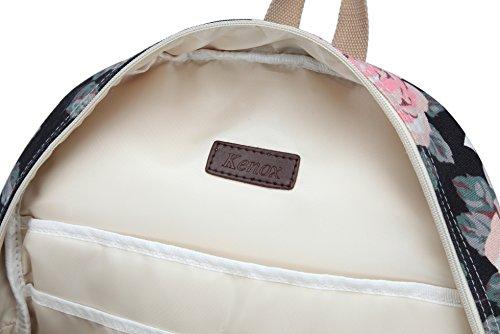 Kenox Girl's School Rucksack College Bookbag Lady Travel Backpack 14Inch Laptop Bag (Floral) by Kenox (Image #6)