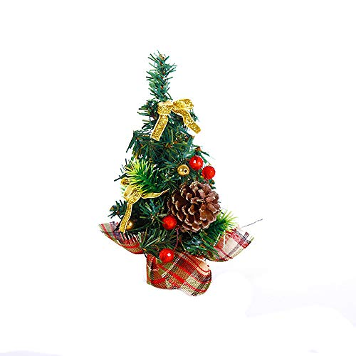 Rumas 20CM H Table Artificial Christmas Tree DIY Ornaments, Most Wished for Merry Christmas Tree Bedroom Desk Decoration Toy Doll Gift Office Home Children