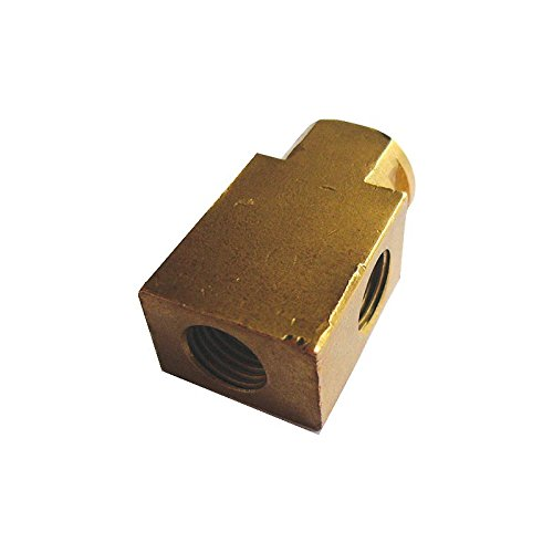 Eckler's Premier Quality Products 40251199 Full Size Chevy Brake Line Brass Junction Block Rear Chevy Full Line